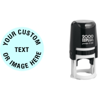 Order Now! 2000 Plus Printer R30 Round Self-Inking Stamp. 1-1/4 inch diameter impression. Free Shipping! No Sales Tax - Ever!