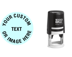 Order Now! 2000 Plus Printer R40 Round Self-Inking Stamp. 1-5/8 inch diameter impression. Free Shipping! No Sales Tax - Ever!