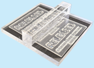 3 x 3 Acrylic See-Thru Stamps Made Daily Online! Free same day shipping. Excellent customer service. No sales tax - ever.