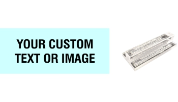 1.25 x 3 Acrylic See-Thru Stamps Made Daily Online! Free same day shipping. Excellent customer service. No sales tax - ever.