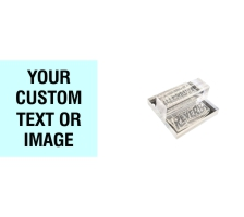 1.5 x 1.5 Acrylic See-Thru Stamps Made Daily Online! Free same day shipping. Excellent customer service. No sales tax - ever.