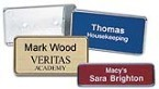 "Custom Name Tag w/Frame 1""x3"" Made daily Online! Free same day shipping. No sales tax - ever."