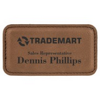 Leather name tags made daily online. Free same day shipping. No sales tax - ever.