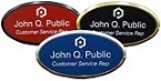 1-1/2 x 3 Oval Plastic Engraved Name Tags With Frame Made Daily Online! Free same day shipping. No sales tax - ever.