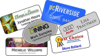 "Order Now! Full Color Sublimated Name Tags. Sized at 1-1/4"" x 3"". Upload your artwork, choose your clip style, and checkout. Free Shipping! No Sales Tax - Ever!"