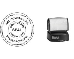 R40-CORPORATE - 2000 Plus HD R40 Pre-Inked<br>Corporate Seal Stamp