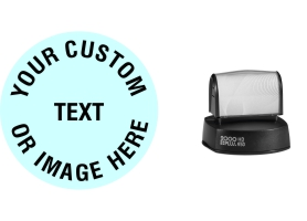 The Round HD R50 Stamp is the largest pre-inked round stamps at 2 inches in diameter. Free same day shipping. Excellent customer service. No sales tax - ever.