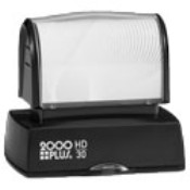 2000 Plus HD30 compact pre-inked bank endorsement stamp made daily online! Free Same Day Shipping. No sales tax - ever!