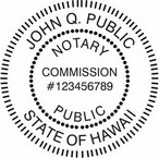 Hawaii Notary Seals