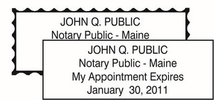 Maine Notary Seals