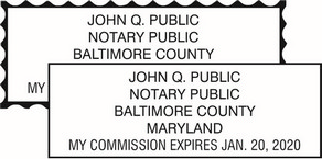 Maryland Notary Seals