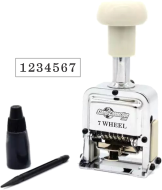 7 wheel automatic numbering machines shipped daily online. Free same day shipping. Excellent customer service. No sales tax - ever.