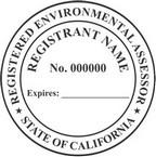 California Registered Environmental Assessor Seals