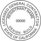California Licensed General Contractor Seals