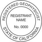 California Registered Geophysicist Seals