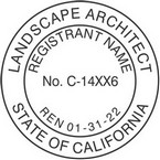 California Licensed Landscape Architect Seals