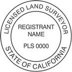 California Licensed Land Surveyor Seals