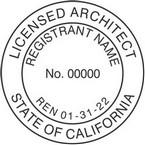 California Licensed Architect Seals
