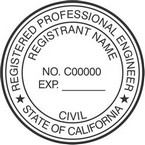California Registered Professional Engineer Seals