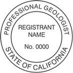 California Professional Geologist Seals