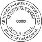 California Certified Property Inspector Seals