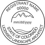 Colorado Licensed Landscape Architect Seals