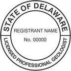 Delaware Licensed Professional Geologist Seals