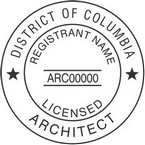 District of Columbia Licensed Architect Seals