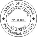 District of Columbia Licensed Professional Engineer Seals