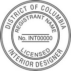 District of Columbia Licensed Interior Designer Seals