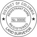 District of Columbia Registered Land Surveyor Seals