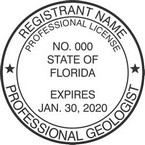 Florida Professional Geologist Seals with Expiration