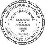 Florida Registered Architect and Interior Designer Seals