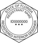 Florida Registered Interior Designer Seals