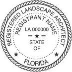 Florida Registered Landscape Architect Seals