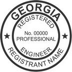 Georgia Registered Professional Engineer Seals