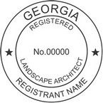 Georgia Registered Landscape Architect Seals