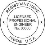 Hawaii Licensed Professional Engineer Seals