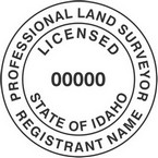 Idaho Professional Land Surveyor Seals