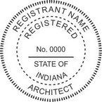 Indiana Registered Architect Seals