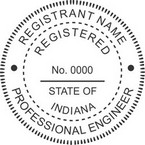 Indiana Registered Professional Engineer Seals