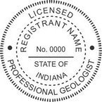 Indiana Registered Professional Geologist Seals