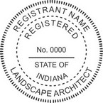 Indiana Registered Landscape Architect Seals