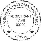Iowa Licensed Landscape Architect Seals