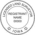 Iowa Licensed Land Surveyor Seals