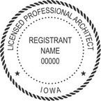 Iowa Licensed Professional Architect Seals