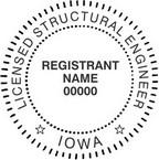 Iowa Licensed Structural Engineer Seals