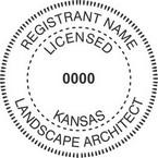 Kansas Licensed Landscape Architect Seals