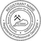 Kentucky Registered Professional Geologist Seals