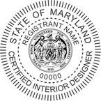 Maryland Certified Interior Designer Seals